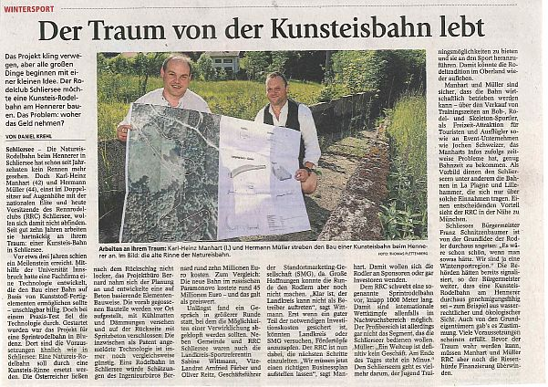 Zeitungsbericht Miesbacher Merkur